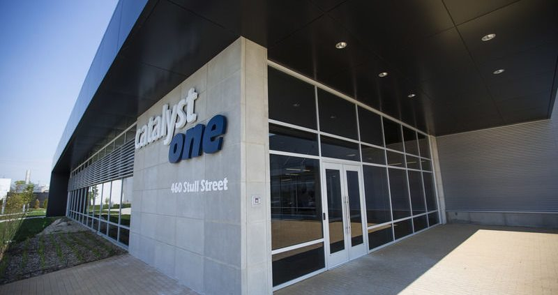 Outside photo of Catalyst One in South Bend, Indiana